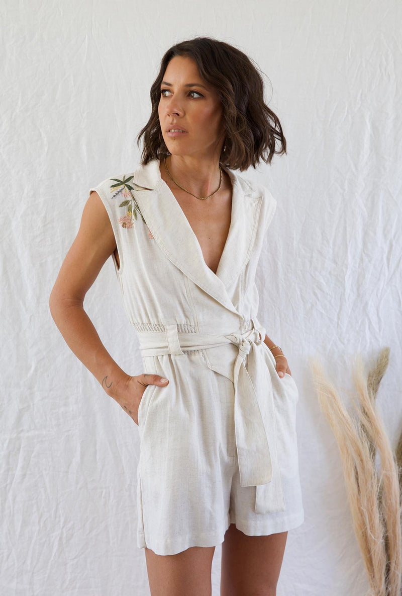 Andean Collective Cassandra Jumpsuit Natural