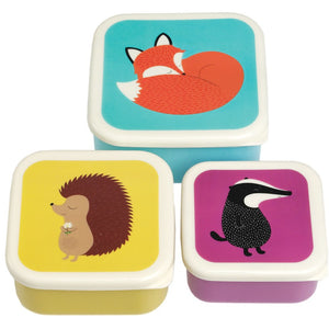 Set Of 3 Snack Boxes Animals
