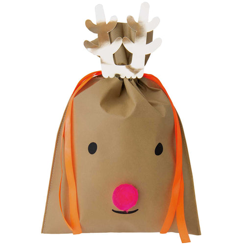 Large Dark Brown Reindeer Gift Bag
