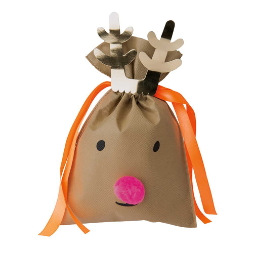 Small Dark Brown Reindeer Gift Bag
