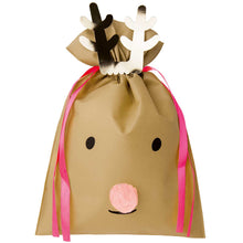 Load image into Gallery viewer, Large Light Brown Reindeer Gift Bag