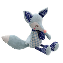 Load image into Gallery viewer, Linen Blue Fox Soft Toy