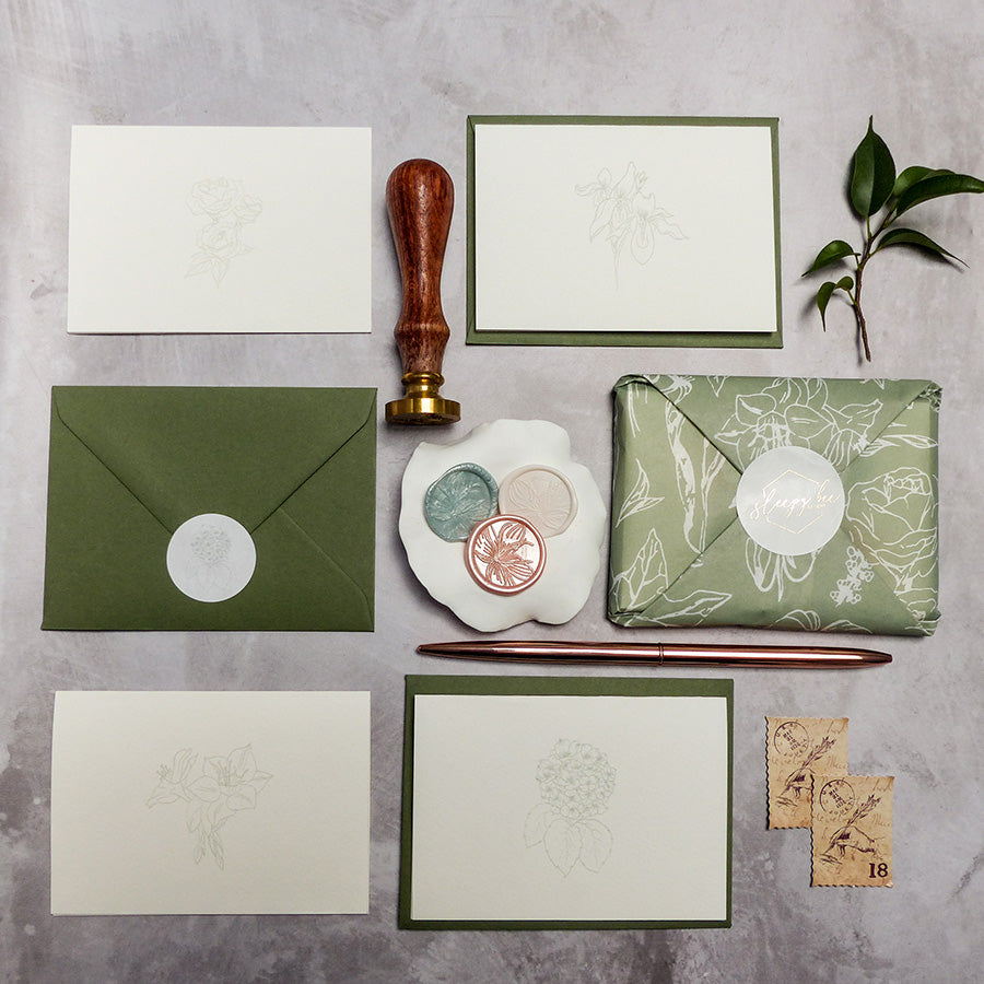 Botanical Mini Greeting Cards