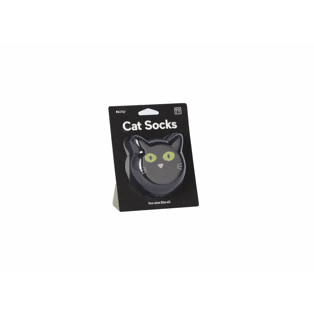 Cat Socks Black