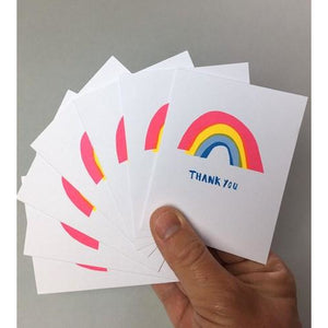 Thank You Card Pack Rainbows