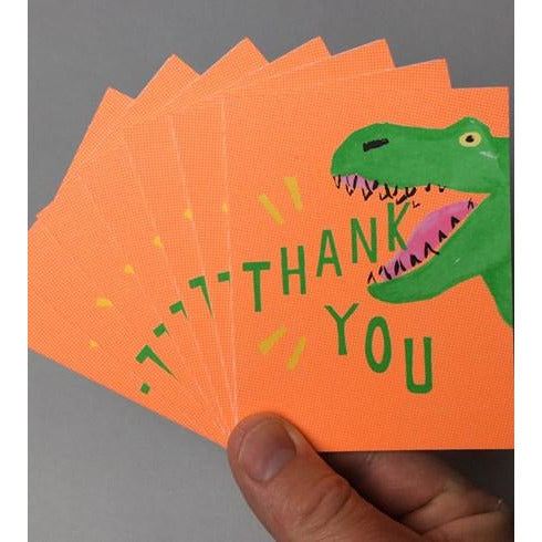 Thank you Pack of Cards Dinosaur
