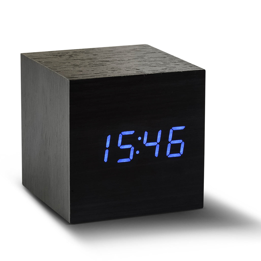 Black Cube Click Clock