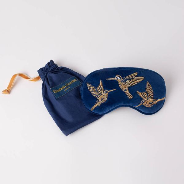 Hummingbird Velvet Eye Mask