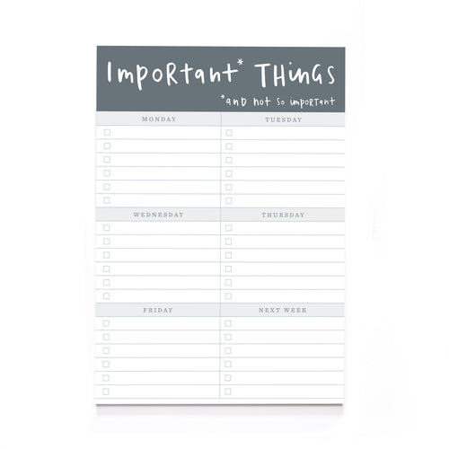 Important Things Notepad A5