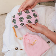 Load image into Gallery viewer, Monstera Pink Velvet Eye Mask