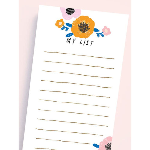 Floral My List Pad