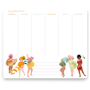 Fruity Nudies Weekly Planner