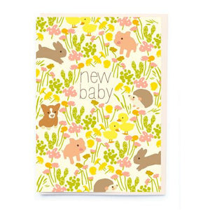 New Baby Card - Woodland Animals