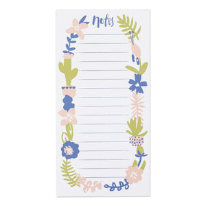 Note List Pad - Flowers
