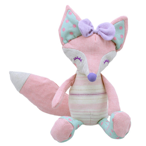 Linen Pink Fox Soft Toy