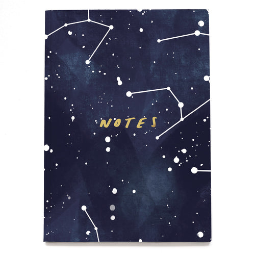 Stars Constellation A5 Linen Notebook