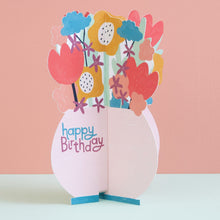 Load image into Gallery viewer, Happy Birthday -  3D Card Flowers