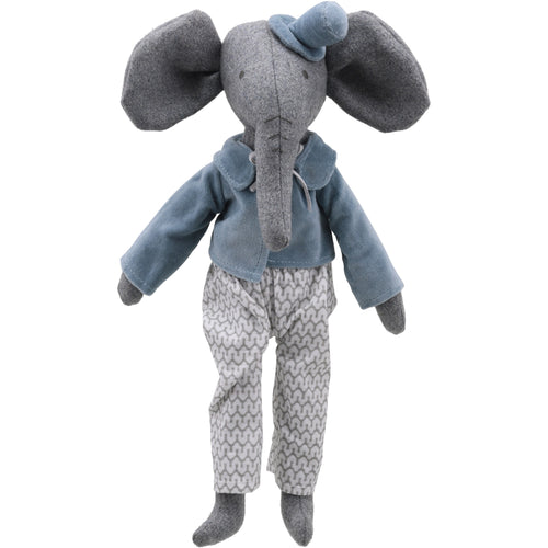 Linen Mr Elephant Soft Toy
