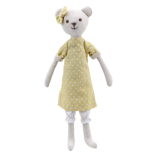 Linen Girl Bear Soft Toy