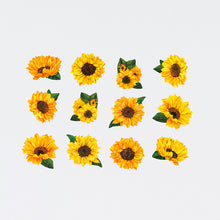 Load image into Gallery viewer, Washi Tape Sunflower Stickers