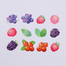 Load image into Gallery viewer, Washi Tape Mixed Berry Stickers