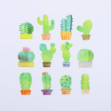 Load image into Gallery viewer, Washi Tape Cactus Stickers