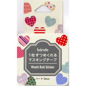 Washi Tape Heart Stickers