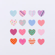 Load image into Gallery viewer, Washi Tape Heart Stickers