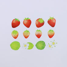 Load image into Gallery viewer, Washi Tape Strawberry Stickers