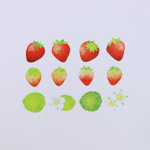 Washi Tape Strawberry Stickers