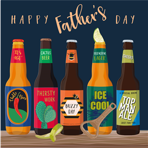 Happy Father's Day Card Drinks