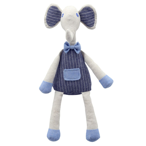 Linen Blue Elephant Soft Toy