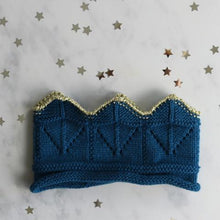 Load image into Gallery viewer, Knitted Crown Blue