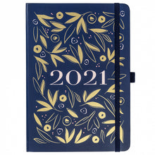 Load image into Gallery viewer, Diary 2021 A5 Navy and Gold