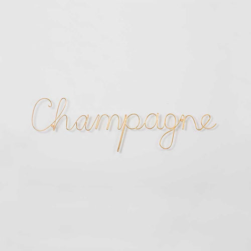 Wire Wall Art Champagne