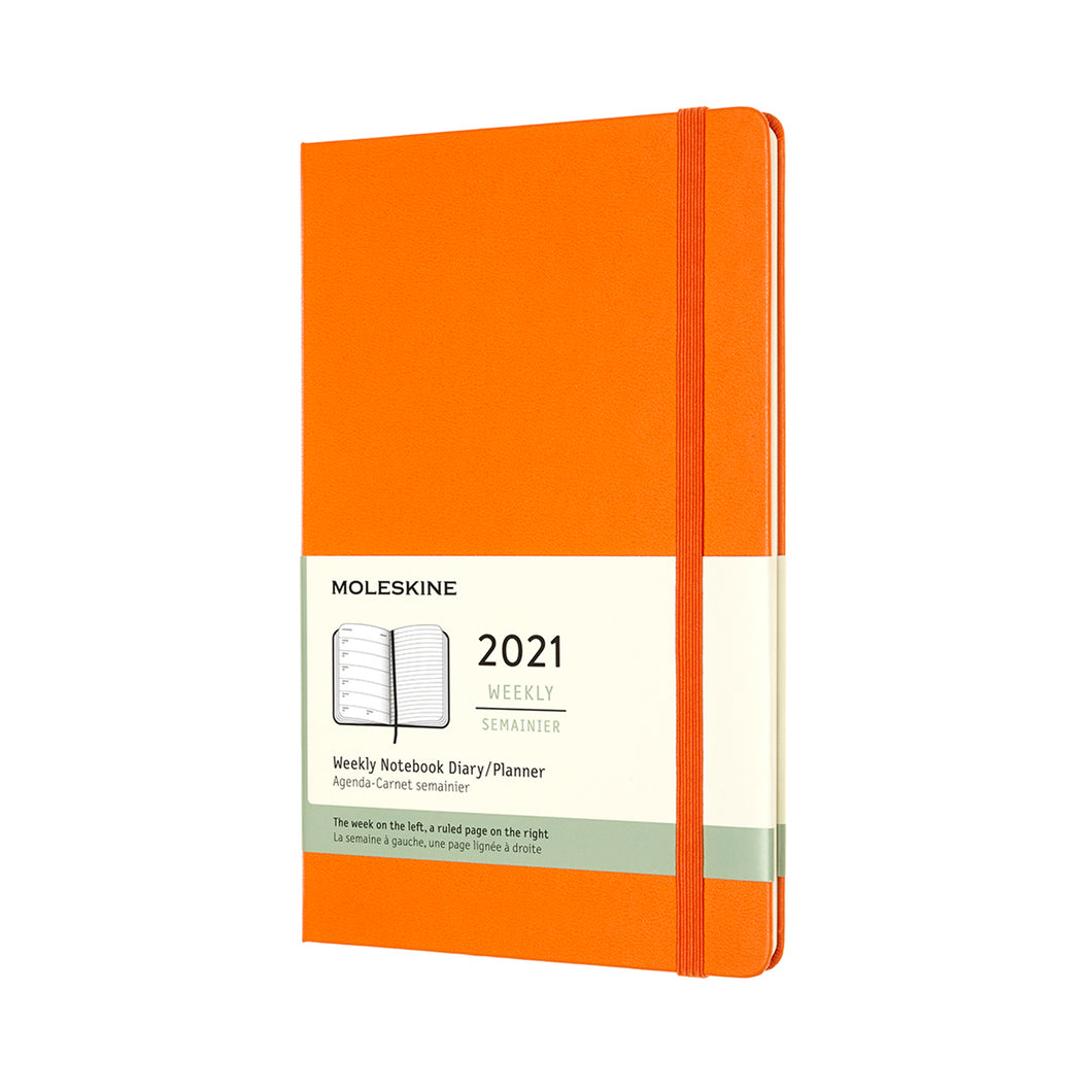Orange Large Moleskine Weekly Notebook Diary / Planner