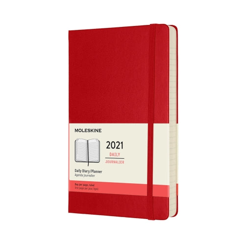 Scarlet Red Large Moleskine Daily Diary / Planner