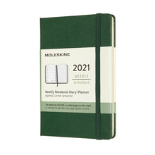 Load image into Gallery viewer, Myrtle Green Pocket Moleskine Weekly Notebook Diary / Planner