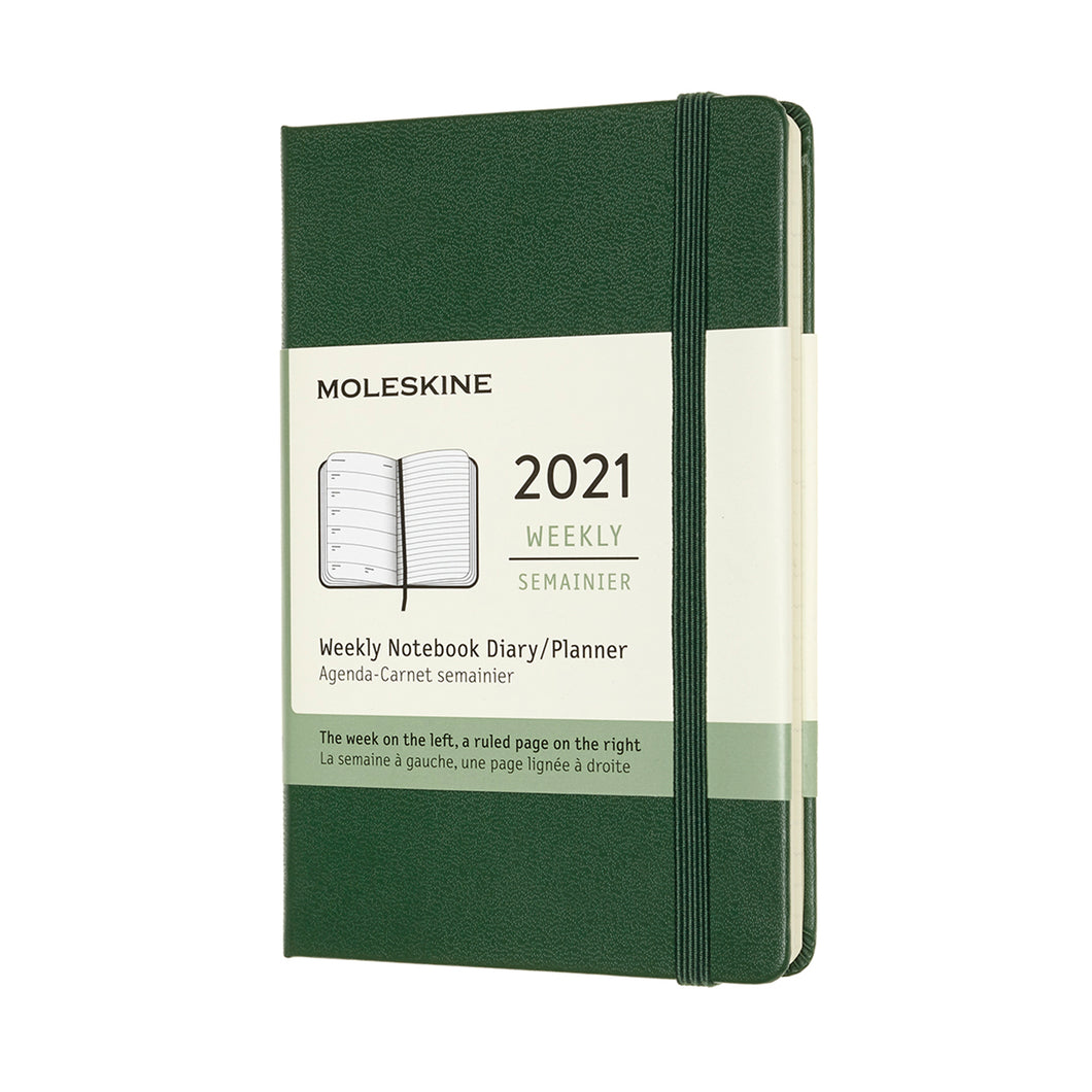 Myrtle Green Pocket Moleskine Weekly Notebook Diary / Planner
