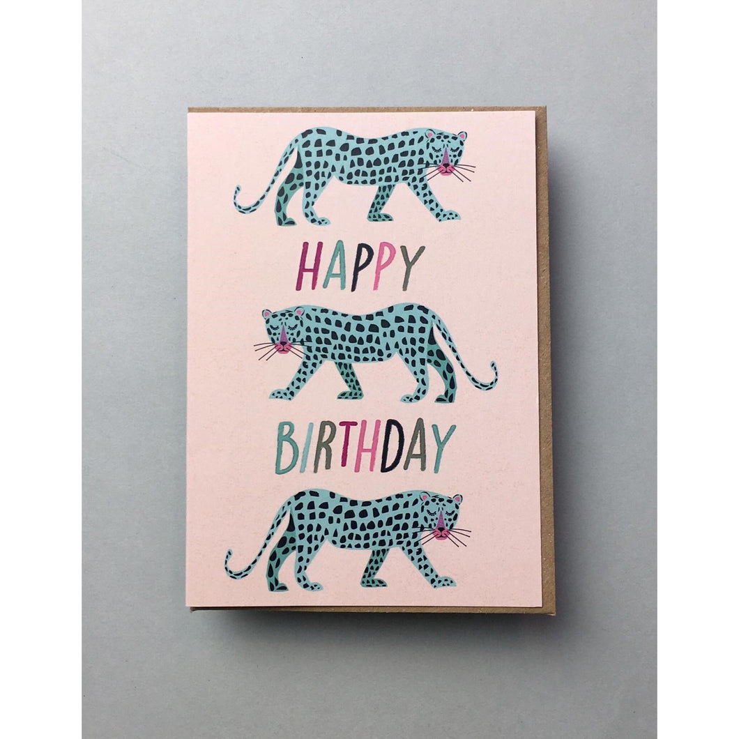 Leopard Birthday Card
