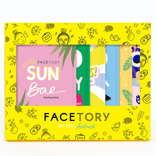 Facetory Glowing Gift Set Of 7 Masks