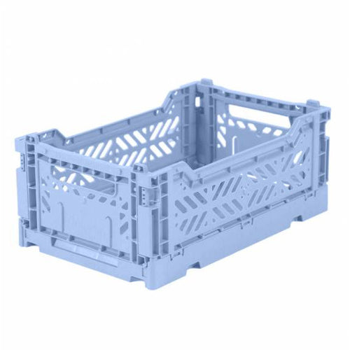 Mini Folding Crate Baby Blue