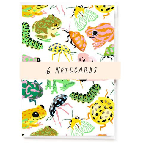 Frogs And Bugs Notecards