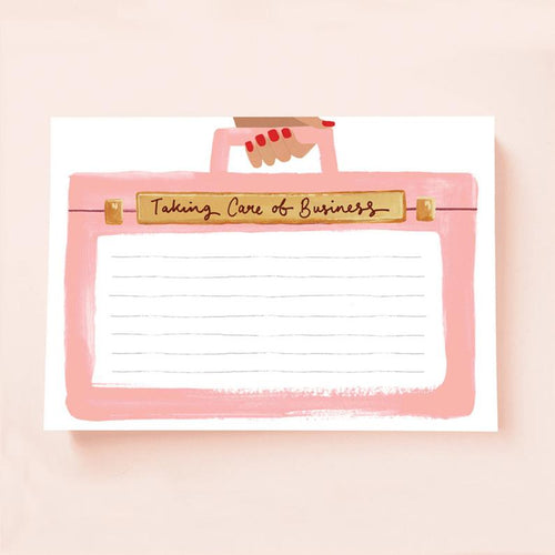 Taking Care Of Business Notepad
