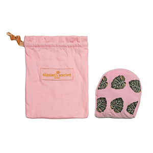 Monstera Pink Velvet Eye Mask