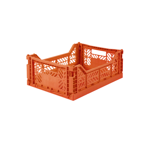 Medium Folding Crate Orange