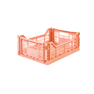 Medium Folding Crate Salmon