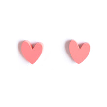 Load image into Gallery viewer, Heart Earrings Soft Pink