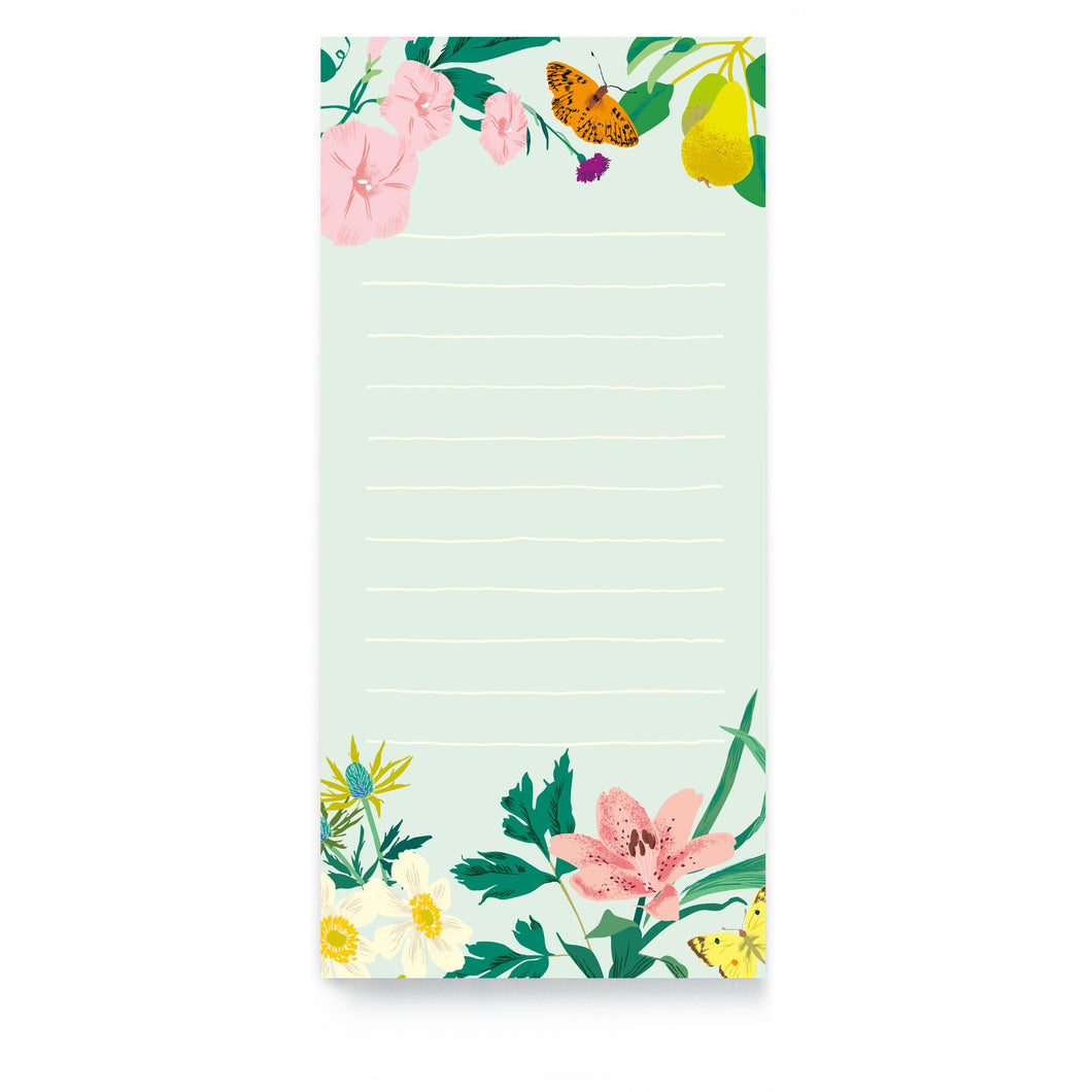 Floral Magnetic List Pad