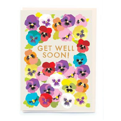 Get Well Soon Flower Card